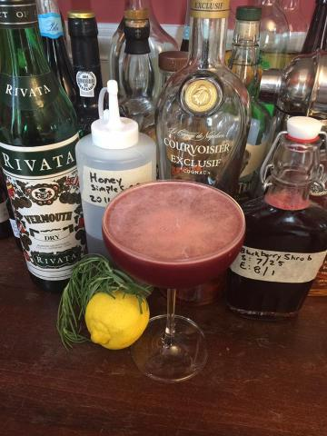 Brandy and Blackberry Rosemary Shrub