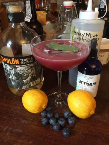 Tequila Sage Blueberry Smash